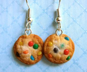 M and M Cookie Earrings by LittleSweetDreams