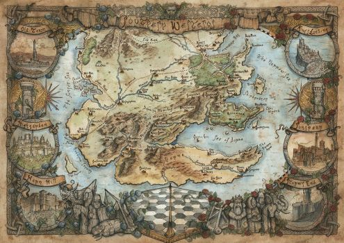 Southern Westeros Map - Game of Thrones by FrancescaBaerald