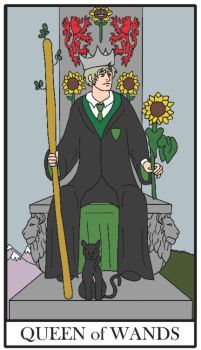 Ivan, the Queen of Wands by FroggieGirl1994