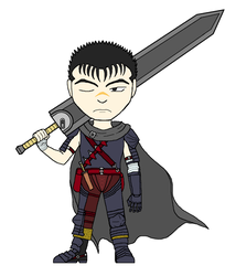 Chibi Giant Swords - Guts by Twardz