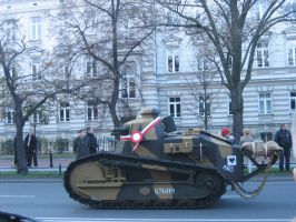 Renault FT 17 in Warsaw by AnAspieInPoland