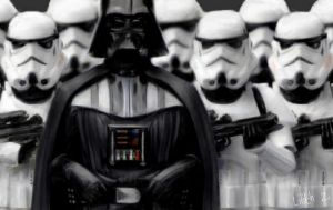 Darth Vader And Stormtrooper by LilithDais