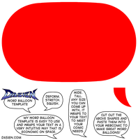 Neil's Word Balloon Template by Neilsama
