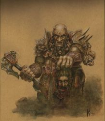 Chaos Dwarf Slaver by KnightInFlames