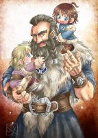 Young Dwalin and Fili,Kili by Kazuki-MENDOU