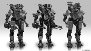 Battle Robot Concept by EdonGuraziu