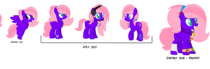 Glorysia Melody Evolution (from past to present) by GlorysiaMelodyYT