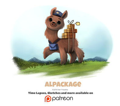 Day 1399. Alpackage by Cryptid-Creations