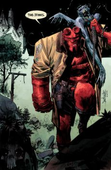 Hellboy Practice by panelgutter