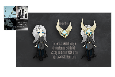 Aesthetic Mystery Adopt 3 - DEMON HUNTER by DreamerTheTimeLady