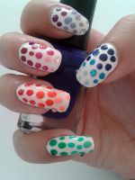 Rainbow Dots - My Nails by nail-artisan
