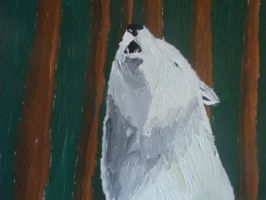 Forest Howl, acrylic on canvas by ArcticIceWolf