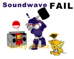 Soundwave Fail by LadyBanzai