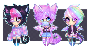 Pastel Harajuku Girl Kemonomimi Adoptables Closed by Ruxree