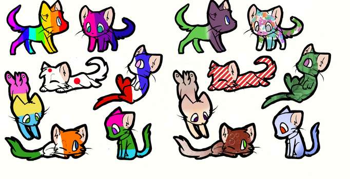 Cat Adoptables (free!) by Letrinrulesall
