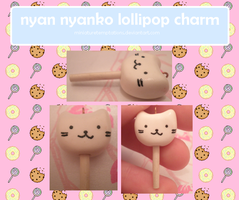 nyan nyanko lollipop by MiniatureTemptations