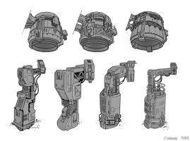 Halo 4: DLC Generator Production Art by SBigham