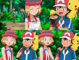 Ash is trying out Serena new treat by BlackOtakuZ