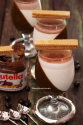 Nutella and Vanilla Bean Panna Cotta by theresahelmer