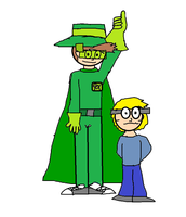 Green Wings Man and Leopold no circle by OffClaireBlue2001