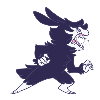 Smol and floof and full of tooth by Pitafish
