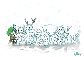 Seven Summoned Beasts by fairygodpiggy