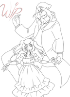 {WIP} The Puppeteer And Anna The Doll by NightmareQueenKasei