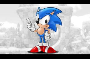 Classic Sonic by AIBryce