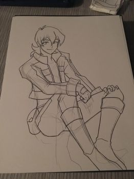Sketching Keith by AnimeJanice
