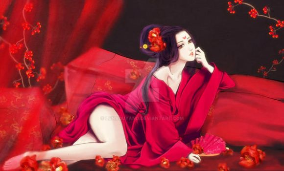 Lady in Red by lunaouyang