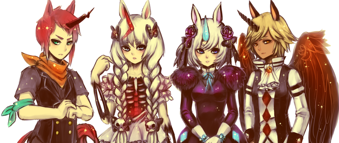 OCs -- Unicorns by onisuu