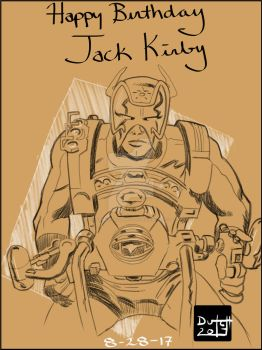 Jack Kirby Tribute by Dynamic-Illustration