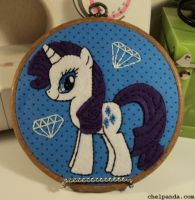 MLP ~ Rarity Embroidery Hoop by chelpanda