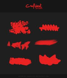 CONFIDENT Brushes (for MediBang) by prythian-resources