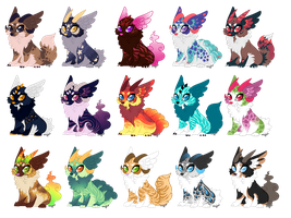 Mini Cinidae Batch (Closed) by Arccyfox