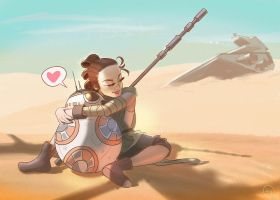 Rey x BB8 by leenisabel