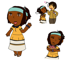 [APH OC] remake of nyo!Belize by poi-rozen