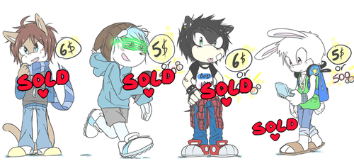 +PAYPAL or POINTS ADOPTABLES!!!+ by andreahedgehog