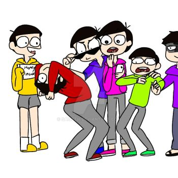 Osomatsu san Drawing Challenge? by SAISETH