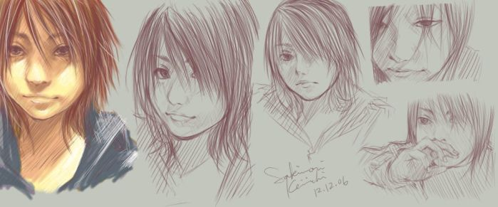 Realism-ish sketches by evanescent-adoration