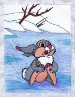 Thumper On Ice by MoonyMina