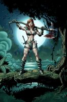 Red Sonja: Colored Art 04 by JacksonHerbert