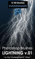 Photoshop Lightning Brushes by shadedancer619