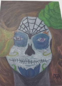 day of the dead, school work by Dion600