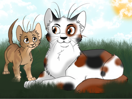 Redtail and Dustpaw by Harryn53012