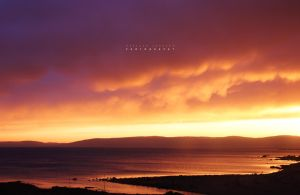 sunset in blackwaterfoot by AMONstudios
