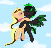 MLP: Kisses in the Sky by IchigoBunny