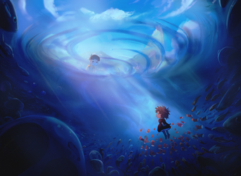 Ponyo Painting -  Large by lord-phillock