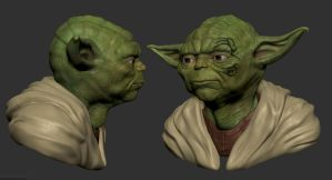 Yoda with Poly Paint 3 hrs by fabian3224