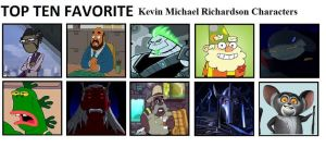 Top Ten Favorite Kevin M. Richardson Characters by mlp-vs-capcom